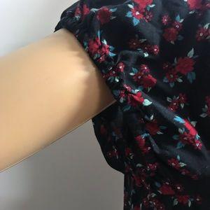 Aeropostale Dresses - AEROPOSTAL FLORAL LACE-UP FIT & FLARE DRESS